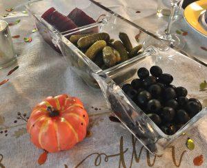 Relish Tray and plastic pumpkin