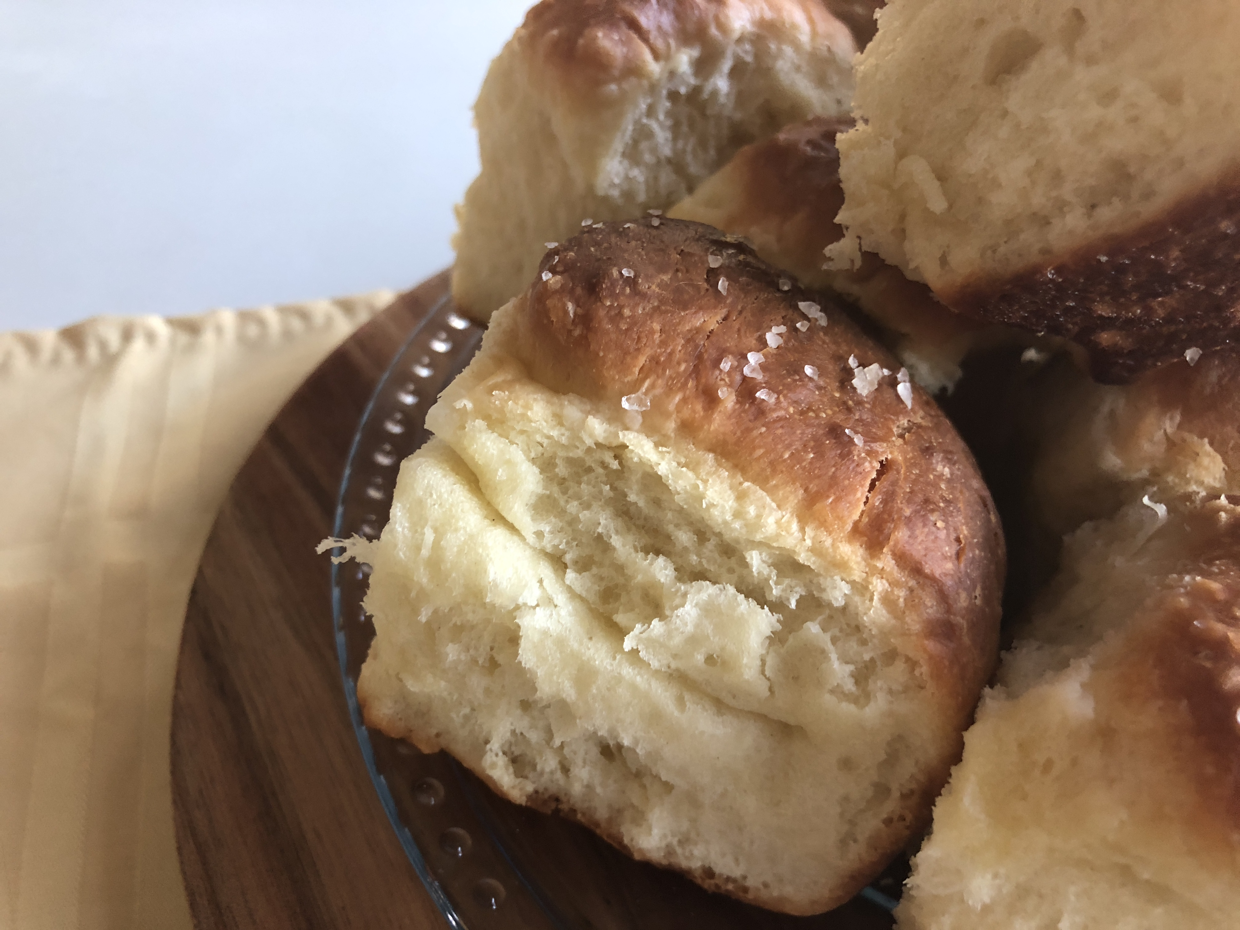 Parker House Rolls on Plate