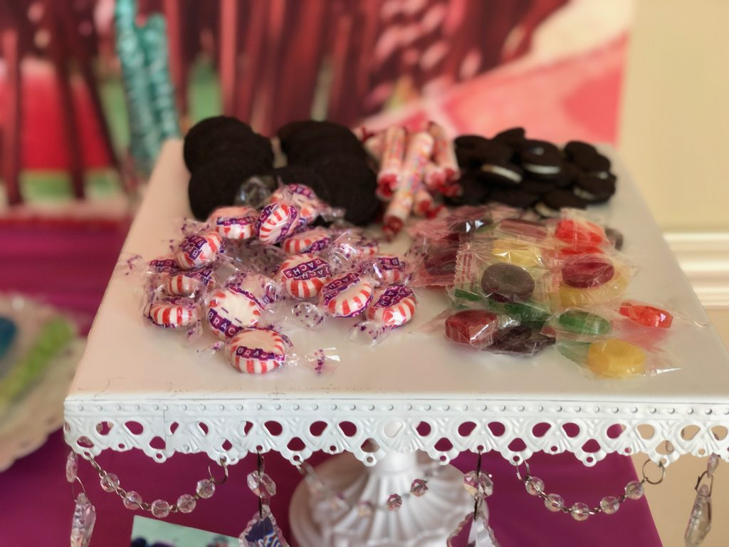 Various candy on candy buffet