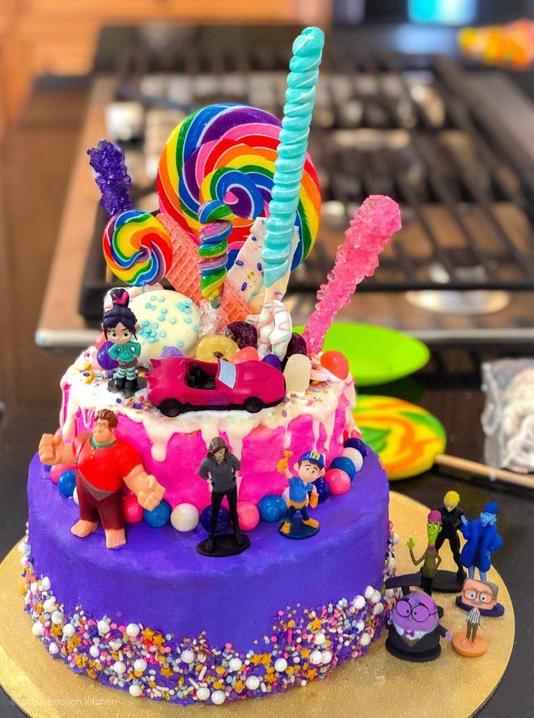 Vanellope birthday cake