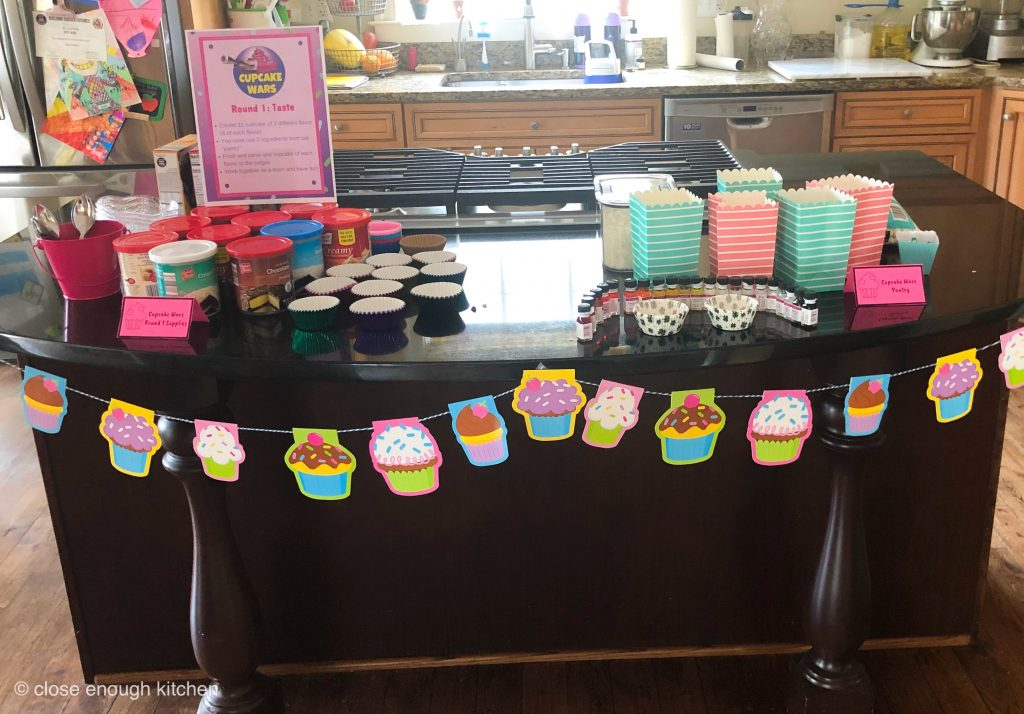 Cupcake supplies and flavorings