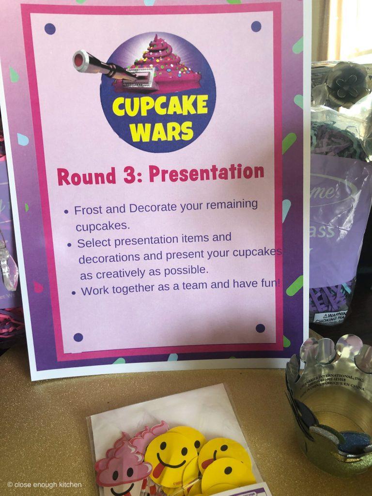 Cupcake wars sign