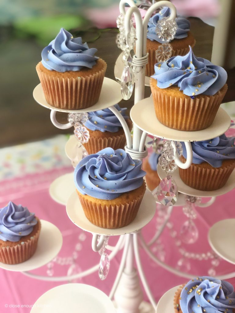 Cupcakes with purple Icing